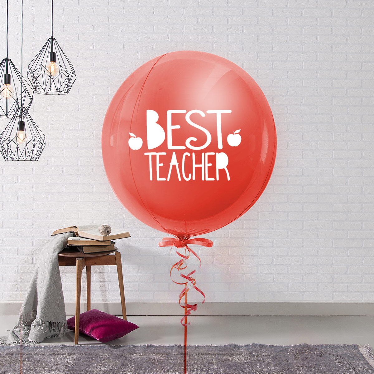 title='个性最佳教师珠光气球'